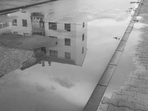house in puddle