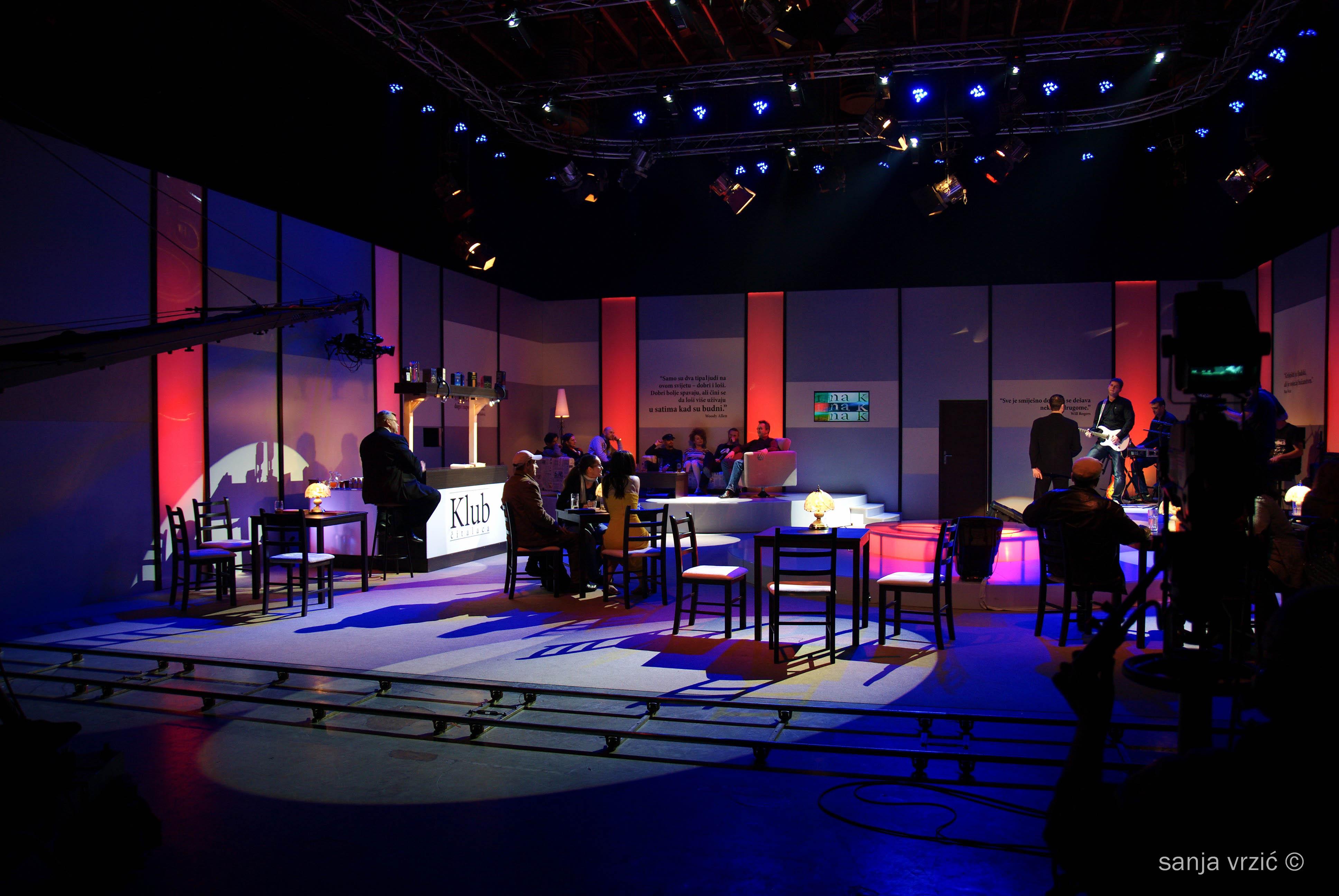 Talk Show Studio Tv talk show host,